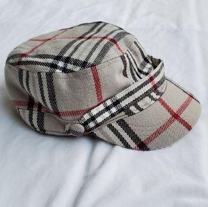 Women's gatsby cap gray plaid